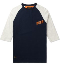 10.Deep Navy Slope ¾ Sleeve Baseball T-Shirt Picutre