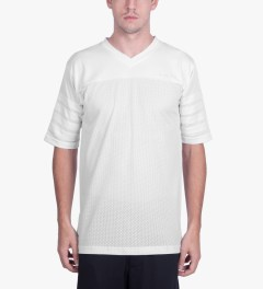 Publish White Aikman Football Inspired Mesh Jersey Model Picutre