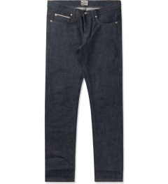 Naked & Famous Mid Blue Super Skinny Jeans Picutre