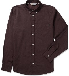 Carhartt WORK IN PROGRESS Bordeaux/Jet Rigid L/S Rocha Shirt Picutre