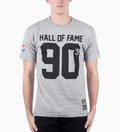 Hall of Fame Heather Grey 90's T-Shirt Model Picutre
