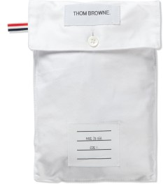 Thom Browne White Oxford Boxer Model Picutre