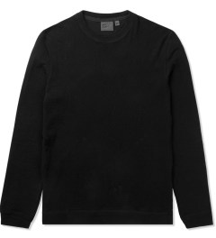 Naked & Famous Black SlimCrew Vintage Sweater Picutre