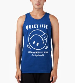 The Quiet Life Royal Blue Fun Tank Top Model Picutre