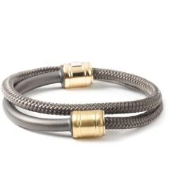 Miansai Solid Charcoal Half-Rope Noir Bracelet Model Picutre