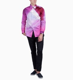 Paul Smith Pink Gradient Shirt Model Picutre