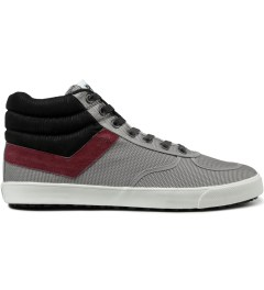 PONY Light Grey/Burgundy Slamdunk VULC Hi Sneakers Picutre