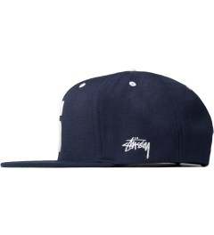 Stussy Navy Leather S Cap Model Picutre