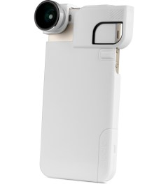 olloclip Silver Lens/White Clip and Black Case olloclip iPhone 5/5s: 4 in 1 Lens + Quick Flip Case and Pro-Photo Adapter Picutre