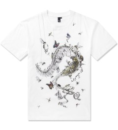 McQ by Alexander McQueen Optic White Dropped Shoulder T-Shirt Picutre