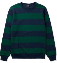 A.P.C. Dark Navy Rugby Stripe Sweater Picutre