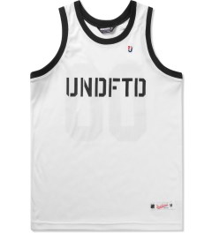 Undefeated White 00 Mesh Tank Top Picutre