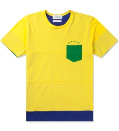 Aloye Aloye x WONG WONG Yellow/Blue Brazil Color Blocked S/S T-Shirt Picutre