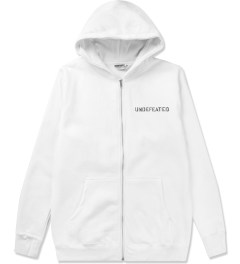 Undefeated White Block Basic Zip Hoodie Picutre