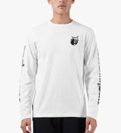 The Hundreds White Hyper L/S T-Shirt Model Picutre