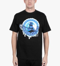 The Hundreds Black Pool Guys T-Shirt Model Picutre