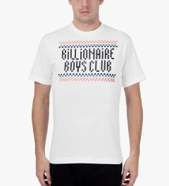 Billionaire Boys Club White S/S Checkmate T-Shirt Model Picutre