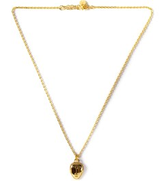 AMBUSH® Gold Tribal Head Pendant Necklace Picutre