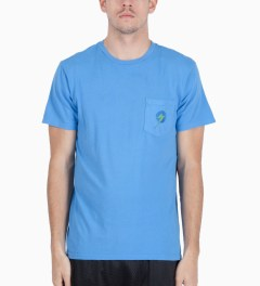 Lightning Bolt Azure Blue Aloha Pocket T-Shirt Model Picutre