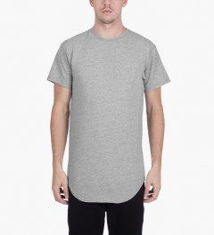 KNYEW Heather Grey E-Long T-Shirt Model Picutre
