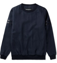 clothsurgeon Navy S/S Linen Stripe Sweater Picutre