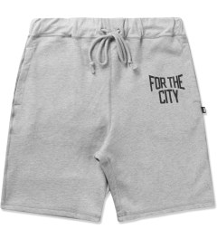 "FTC Heather Grey ""For The City"" Sweatshorts Picutre"