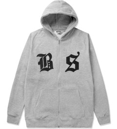 Undefeated Heather Grey BS Zip Hoodie Picutre