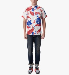 HUF White Copacabana S/S Woven Shirt Model Picutre