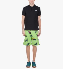 Billionaire Boys Club Paradise Green Car Clash Shorts Model Picutre
