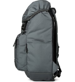 The Earth Grey Black Label New Disaster Backpack Model Picutre