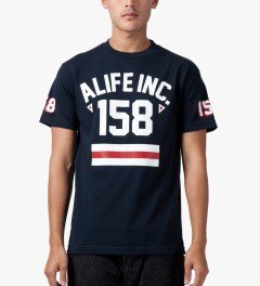 ALIFE Peacoat Black 158 Athletics T-Shirt Model Picutre