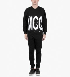 McQ by Alexander McQueen Black Oversized Crewneck Sweater Model Picutre