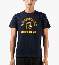 Billionaire Boys Club Navy Billionaire College Pop T-Shirt Model Picutre