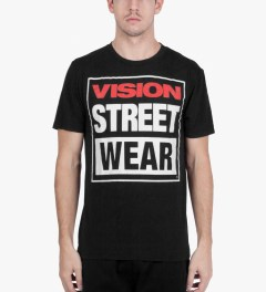 VISION STREET WEAR Black Logo T-Shirt Model Picutre