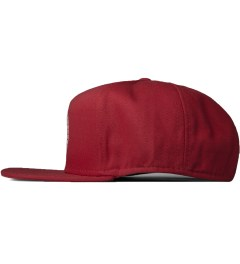 Stussy Red Greek Cap Model Picutre