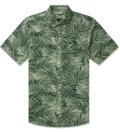 Carhartt WORK IN PROGRESS Planet Palm Print Rinsed S/S Cayman Shirt Picutre