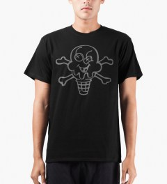 ICECREAM Black/Reflective Cone & Bones T-Shirt Model Picutre