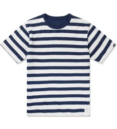 Head Porter Plus Navy Reversible Border T-Shirt Picutre