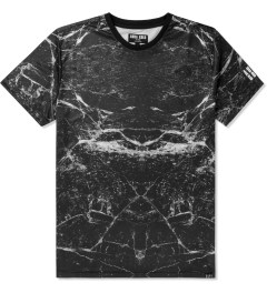 AURA GOLD Black Marble Print Allover Sub T-Shirt Picutre