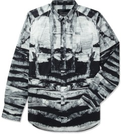 Tourne de Transmission White/Black Shatter Box Shirt Picutre