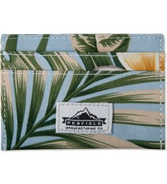 Penfield Blue Palm Print Fowler Card Holder Picutre