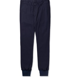 Jiberish Navy Crest Chino Jogger Pants Picutre