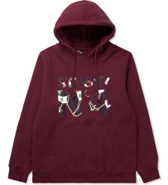 Stussy Dark Red Flags No.4 Hoodie Picutre