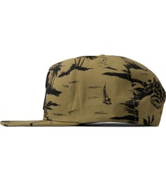 10.Deep Khaki Larger Living Snapback Cap Model Picutre