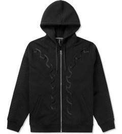 Uppercut Black Embroidered Zip Hoodie Sweater Picutre