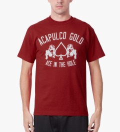 Acapulco Gold Red Ace In The Hole T-Shirt Model Picutre