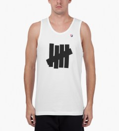 Undefeated White Five Strike Tank Top Model Picutre