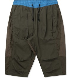 CLOT Blue/Grey Tonal Panel Shorts Picutre