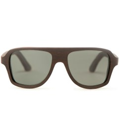 Shwood Ashland East Indian Rosewood Polarized Grey Sunglasses Picutre
