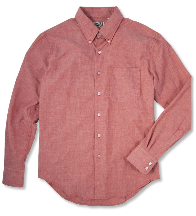 Red Chambray Slim Shirt